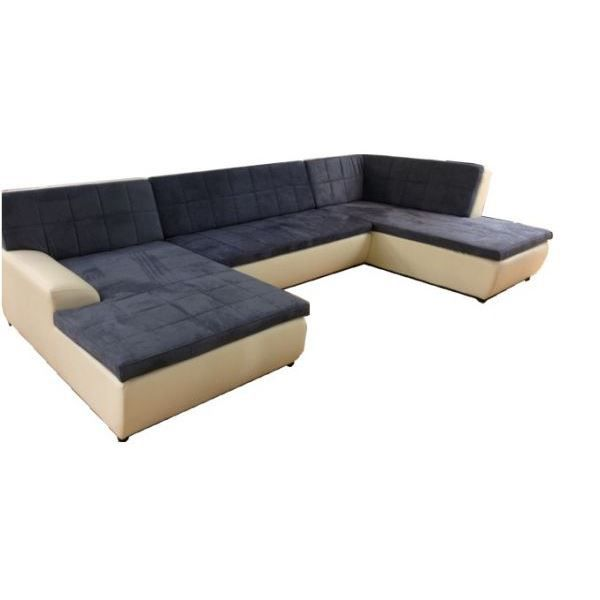 double angle trio cr me achat vente canap sofa. Black Bedroom Furniture Sets. Home Design Ideas