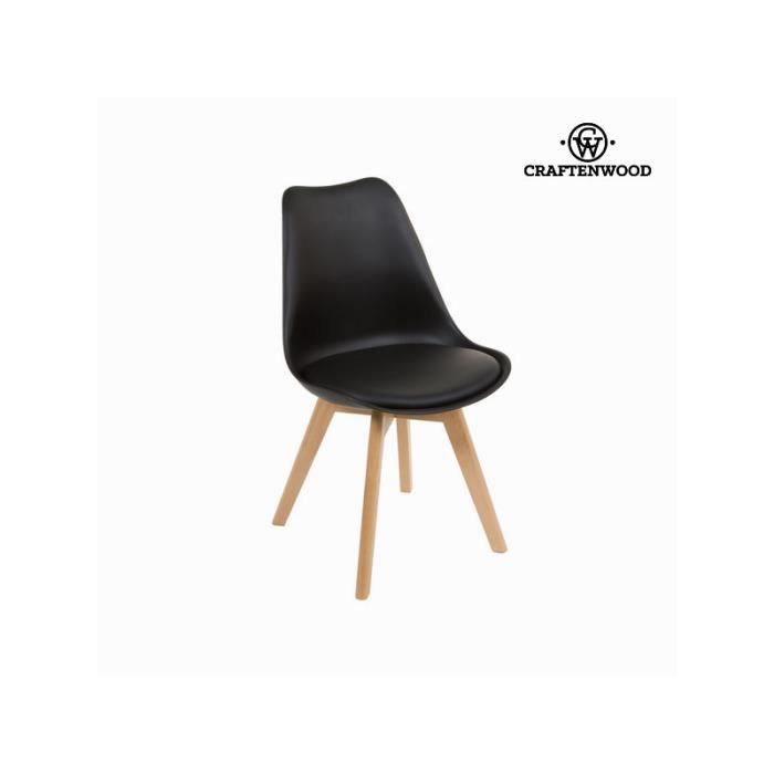 chaise pieds en bois noir achat vente chaise cdiscount. Black Bedroom Furniture Sets. Home Design Ideas