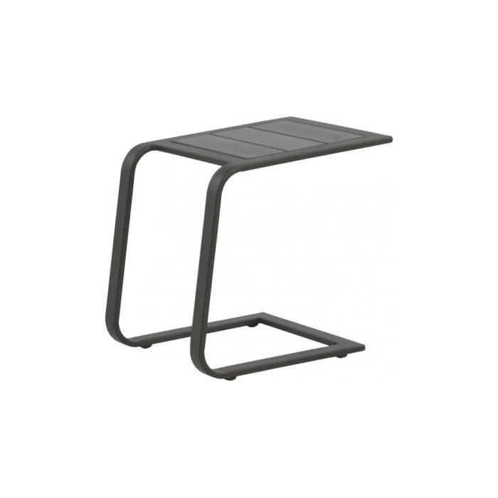 TABLE BASSE JARDIN  Tablette d'appoint aluminium gris