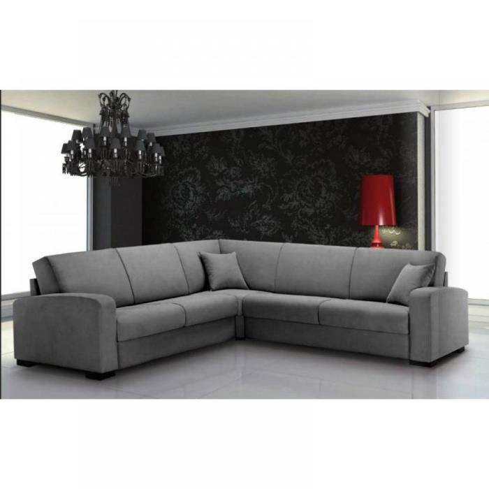 leonardo canap d 39 angle convertible rapido c t achat vente canap sofa divan cdiscount. Black Bedroom Furniture Sets. Home Design Ideas