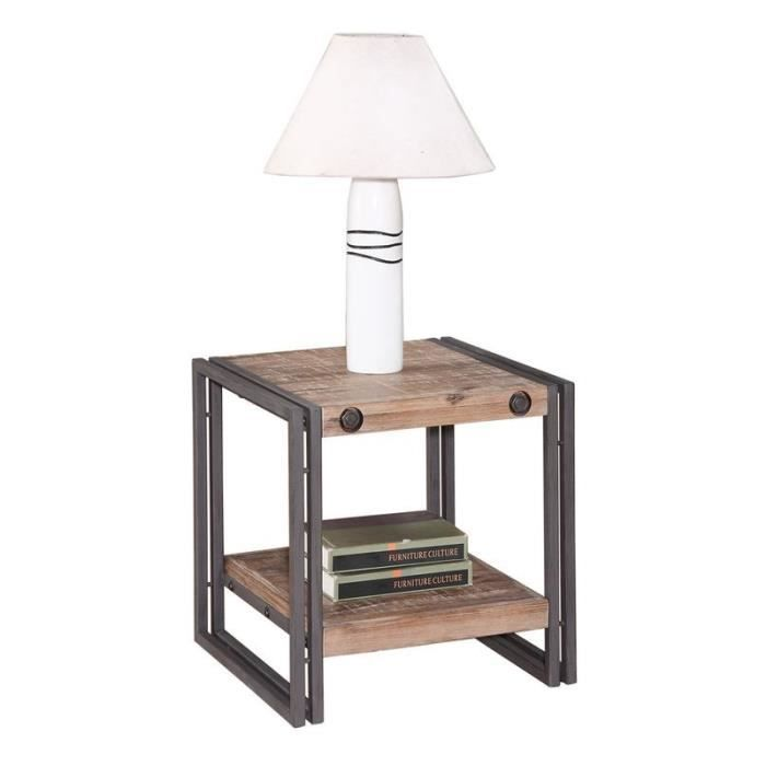Table bout de canape metal achat vente table bout de - Table d appoint design pas cher ...