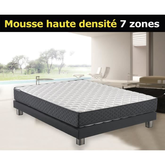 matelas 140x190 mousse haute densit 30kg m 22cm alpha soutien ferme couchage profil 7. Black Bedroom Furniture Sets. Home Design Ideas