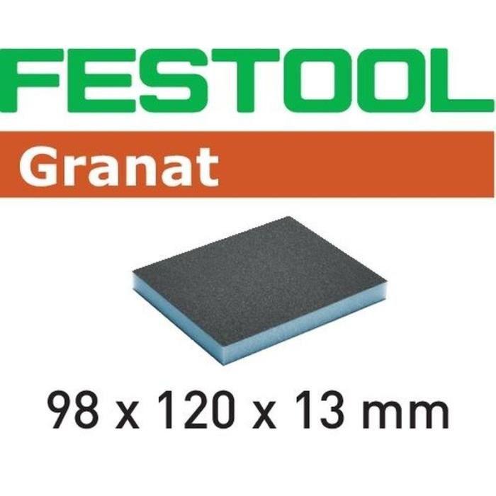 201507 Festool Éponge de ponçage 98x120x13 800 GR//6 Granat