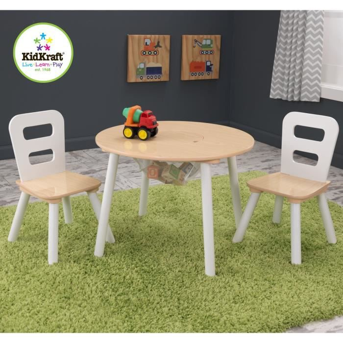 Kidkraft table ronde 2 chaises achat vente table et - Set de table pour table ronde ...