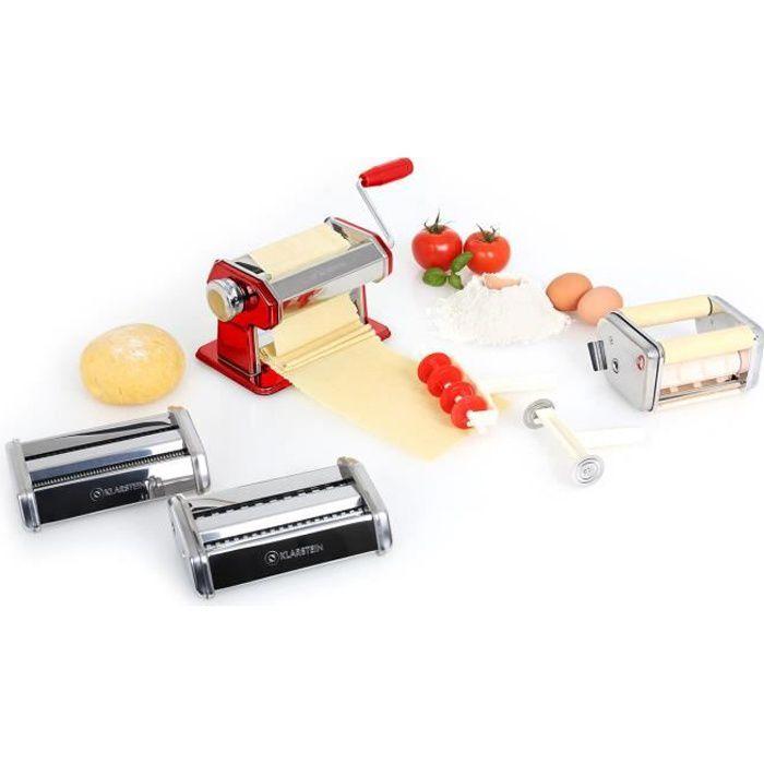 Photo de klarstein-pasta-maker-machine-a-pates-fraiches-double-lame-avec-3