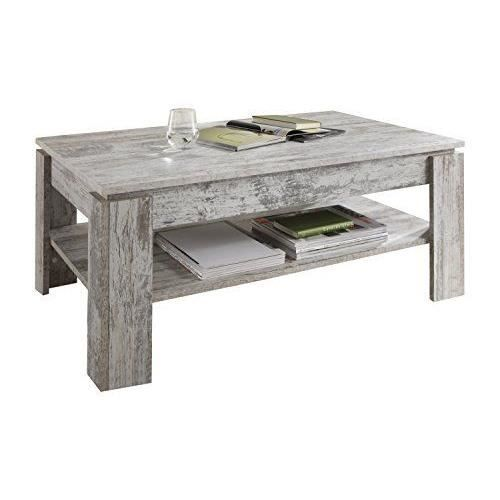 Maisonnerie 1100 112 68 table basse m lamin style shabby chic r tro canyon p - Table salon cdiscount ...