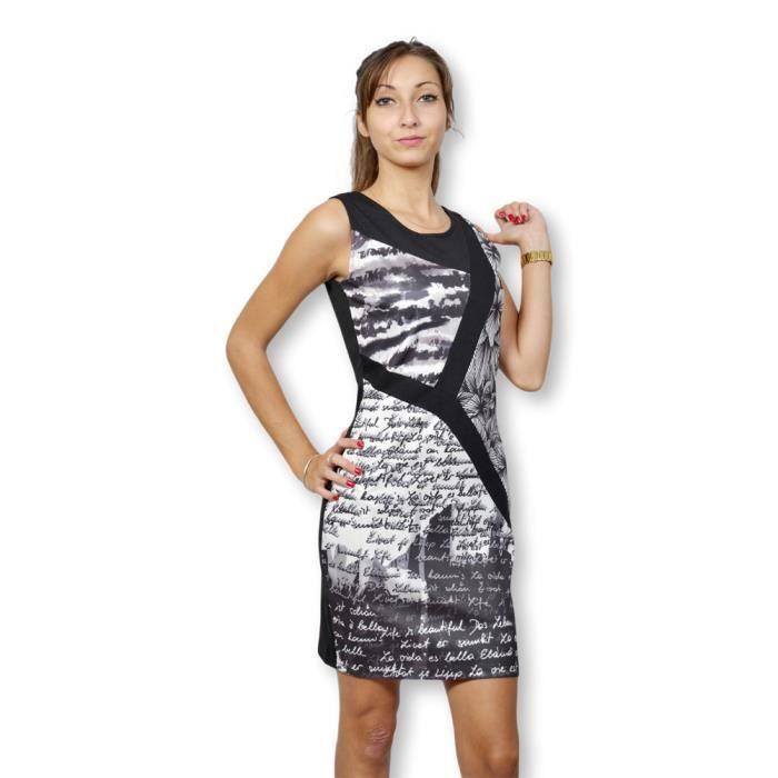 Smash Robe Femme Sans Manche Robe Imprimee Nouveaute Multicolore Achat Vente Robe Cdiscount