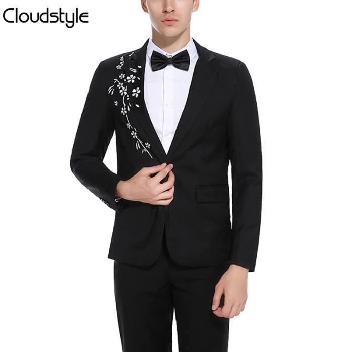 2018 Original De Point Type En Casual Col Costume Tailleur Design Fleur Broderie BlazerMinceStyle Homme Nouvelle Avec Veste EDI9eHW2Y