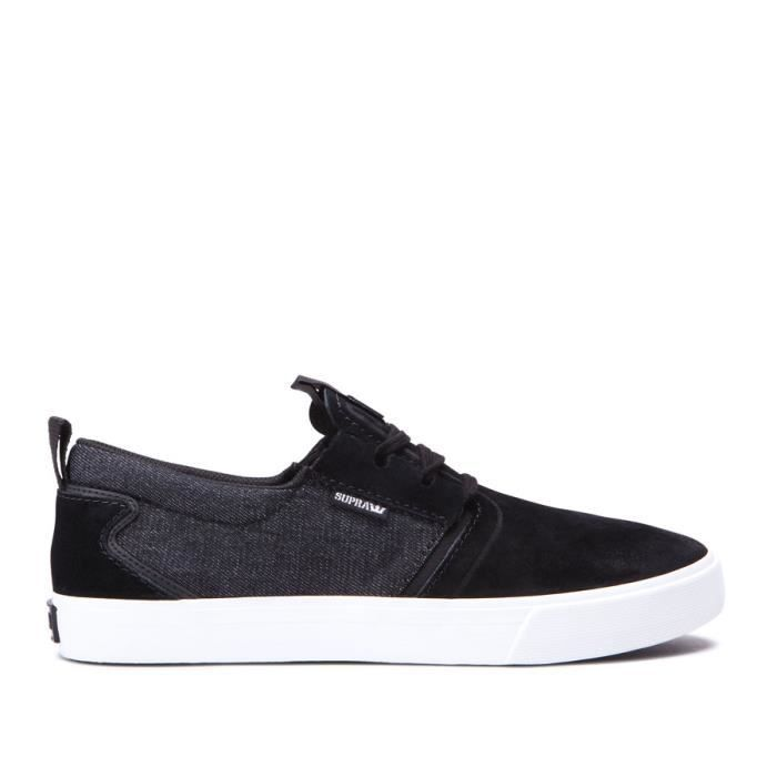 Chaussures SUPRA FLOW black black denim white