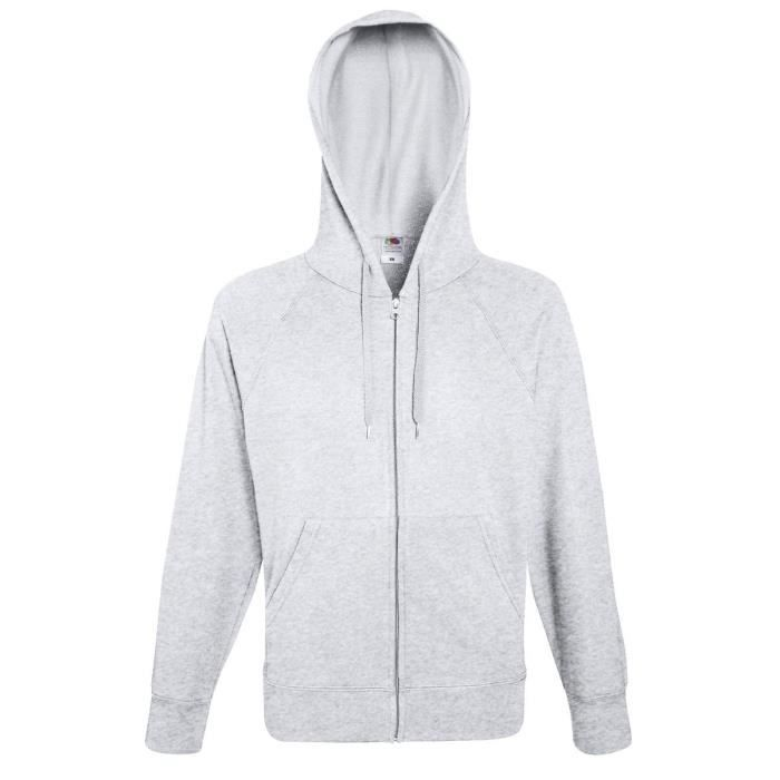 Lot de 2 Sweat Coton Homme Zip et Capuche