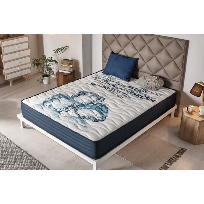 matelas memofresh 80x190 cm blue latex 7 zones gel fresh achat vente matelas cdiscount. Black Bedroom Furniture Sets. Home Design Ideas