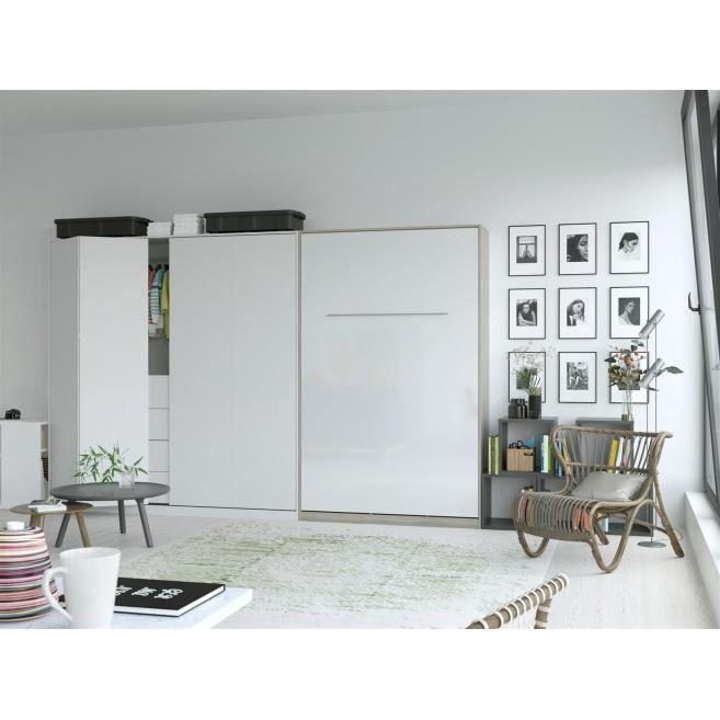 LIT ESCAMOTABLE SMARTBett Standard 120x200 vertical chêne Sonoma/b