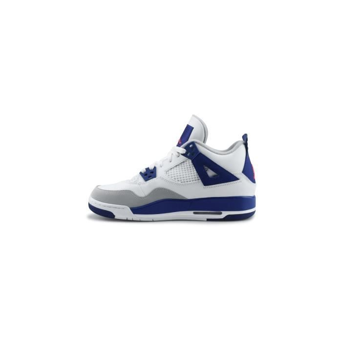 Basket Air Jordan 4 Retro Gg Junior Blanc 487724-132