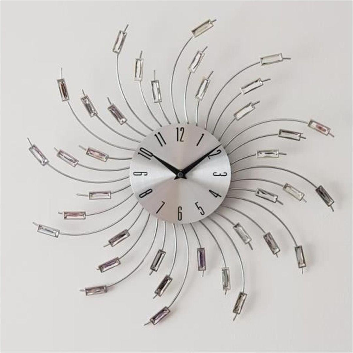 Grosse Horloge Fer Forgé horloge murale design chrome