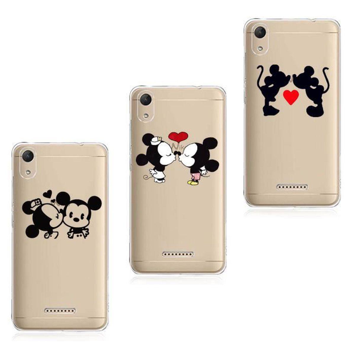 Coque Pour Wiko Lenny 4 3PC Animaux Disney Schéma Souple Premium ...