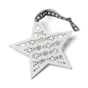 SAPIN - ARBRE DE NOËL 1 pcs étoile de Noël en bois blanche à suspendre s