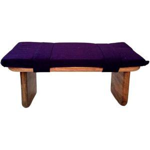 BANC Banc de Méditation Shoggi avec coussin violet Kapp