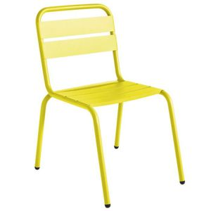 CHAISE Chaise de jardin design Barceloneta ISIMAR - Jaune