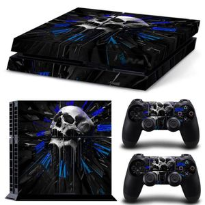 STICKER - SKIN CONSOLE Sticker pour ps4 + stickers 2 manettes clock Skull