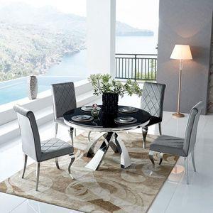 TABLE À MANGER SEULE Table à manger ronde design LIORE