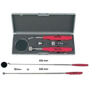Prendre 3er Set Télescopique Outils Aimant LED Miroir D/'Inspection Cric Mirroir