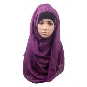 ECHARPE - FOULARD Mode femmes musulmanes Châle Écharpe Head Cover Fo