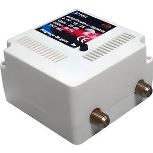REPETEUR DE SIGNAL Amplificateur int. 1 TV Gain : 30 dB réglable