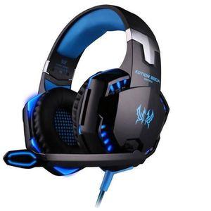 CASQUE AVEC MICROPHONE EACH G2000 3.5mm Gaming stéréo avec fil Over-Ear H