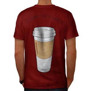 T-SHIRT je Amour Toi Latté Mode Men  T-shirt à col en V |