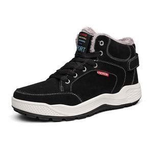 BOTTE Chaussures Hommes Coton Hiver Bottes Anti-dérapant