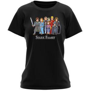 T-SHIRT T-shirt Femme Noir Iron Man - Game of Thrones paro