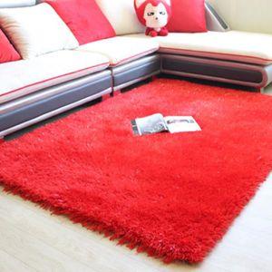 TAPIS Tapis de 160 * 230cm rose rouge Confortable Épaiss