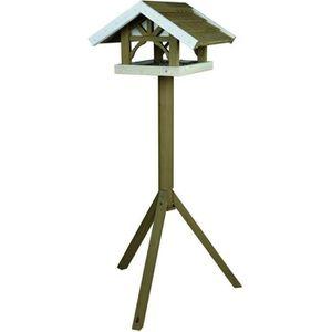 NICHOIR - NID NATURA Mangeoire oiseaux avec pied 45 × 28 × 44 cm