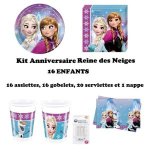 KIT DE DECORATION Kit Anniversaire 16 Enfants La Reine des Neiges No