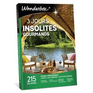 COFFRET SÉJOUR Wonderbox - Box cadeau couple - 3 jours insolites
