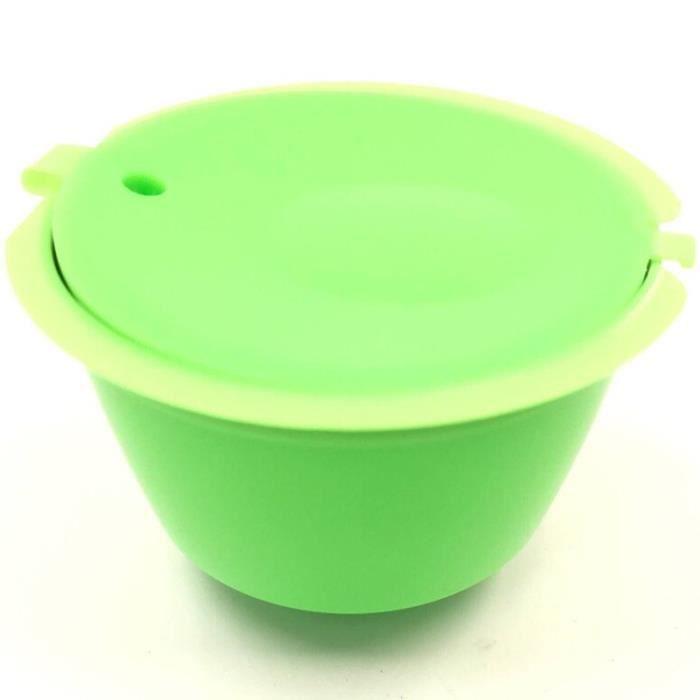 Capsules de café réutilisables Dolce Gusto, verre filtrant, en plastique rechargeable, Compatible avec Dolce Gusto, [39B392D]
