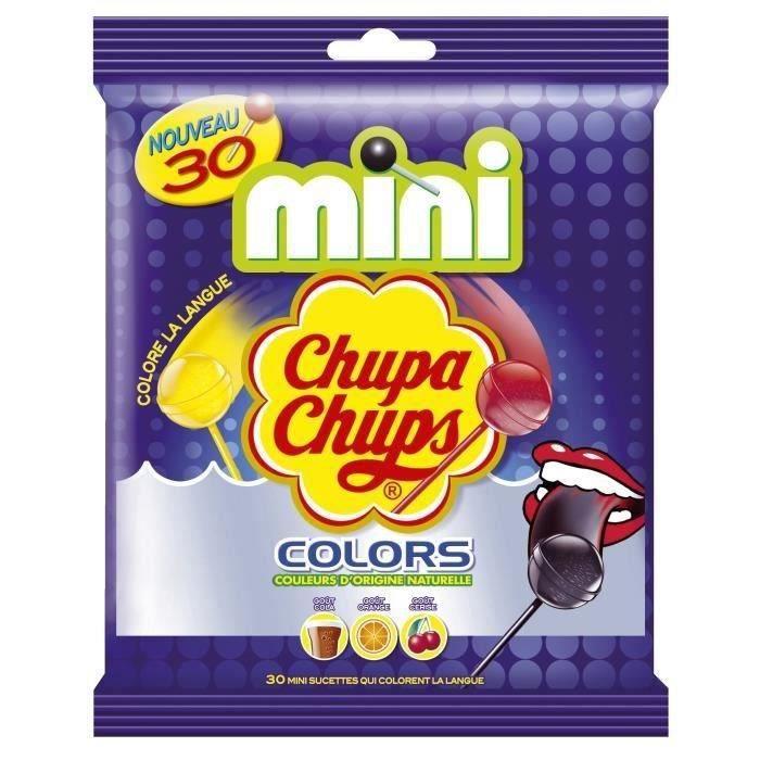 CHUPA CHUPS Mini Sucettes Colors, goûts assortis - 30x 6 g