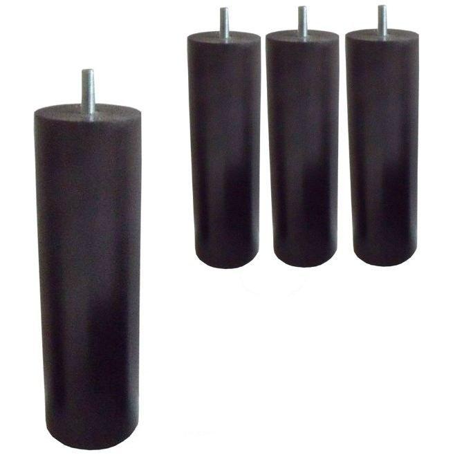 SEDAC 4 Pieds Cylindriques Wengé H 20cm