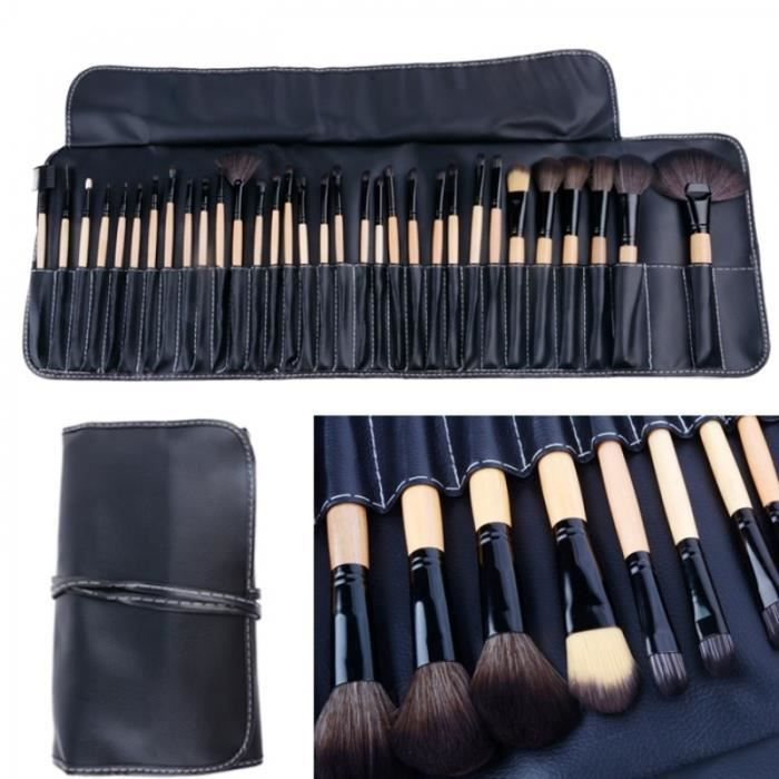 Pinceau de maquillage 32 PCS Set cosmétiques Crayon Lip Liner Maquillage Kit