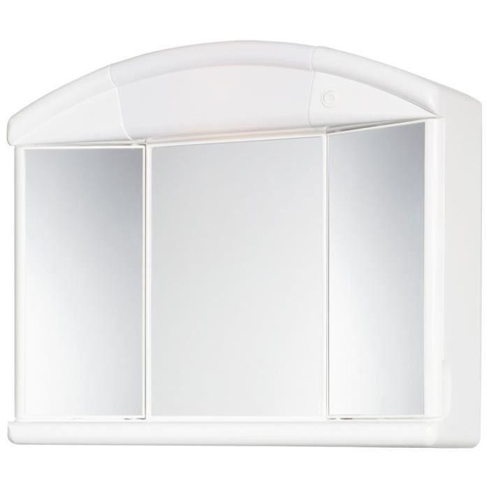 ALLIBERT Armoire de toilette NATY - 2 portes + 1 miroir centrale