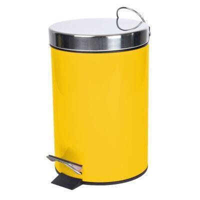 Adunivers -POUBELLE A PEDALE 3 L METAL UNI METALIA MIEL-COUVERCLE INOX/CORP FER- POUBELLES