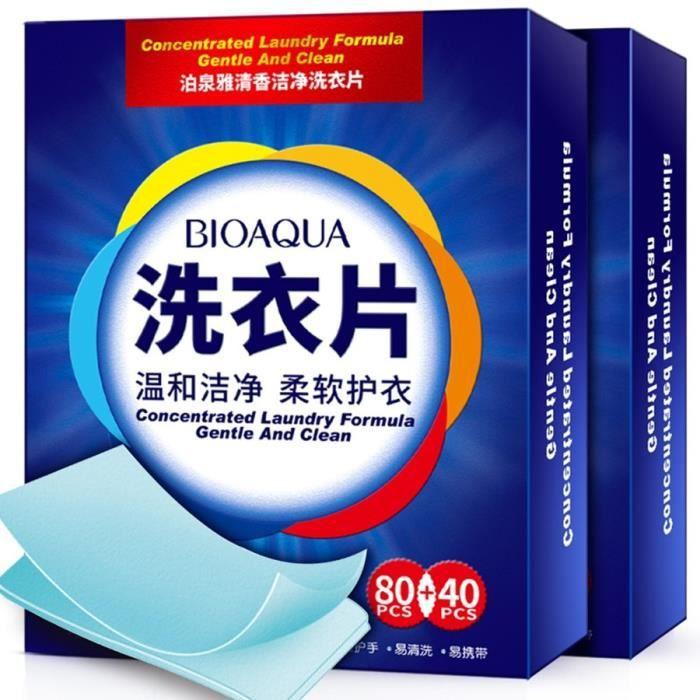 Filet De Lavage,Tablettes de lessive pour nettoyage, nouvelle formule, détergent à lessive Nano, feuilles de lavage - Type 120 PCS