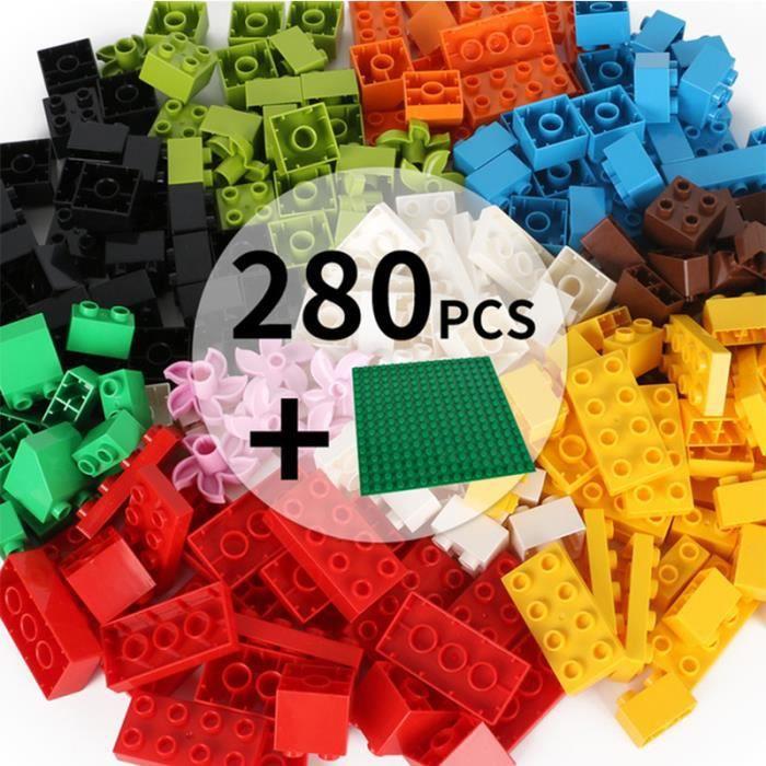 Jeux Jouets D'Assemblage enfant 280 pièces bloc de bois +plaque de base blocs de construction de grosses particules L'intelligence
