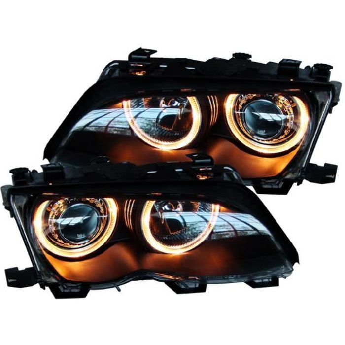 PHARES ANGEL EYES NOIRS BMW E46 BERLINE TOURING…