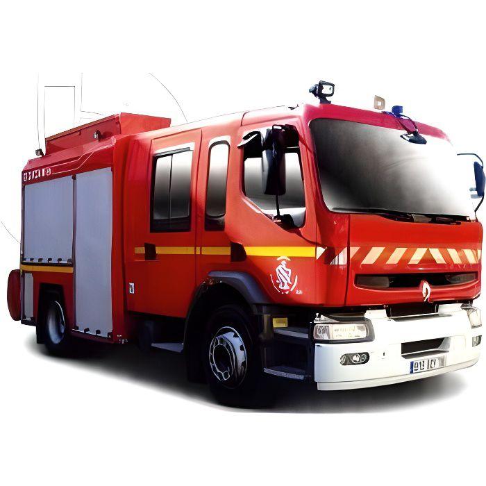 BBURAGO Véhicule de Pompier Renault Premium en métal à l'échelle 1/55ème