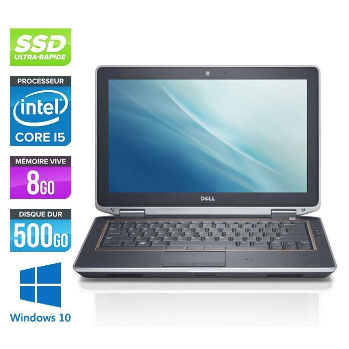 Dell E6320 - Core i5 - 8Go -500Go SSD -Windows 10