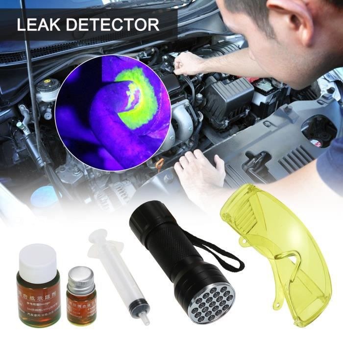 Auto climatiseur détecteur de fuite lampe de poche UV kit de détection de fuite de fluide frigorigène voiture AC test de fuite lam