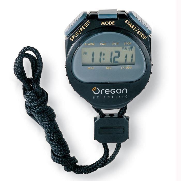 Oregon scientific - chronomètre 1/100ème de seconde noir - c510 noir