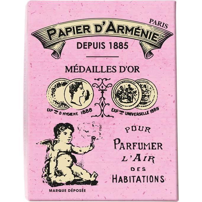 Coffret vintage papier d'Arménie - Rose