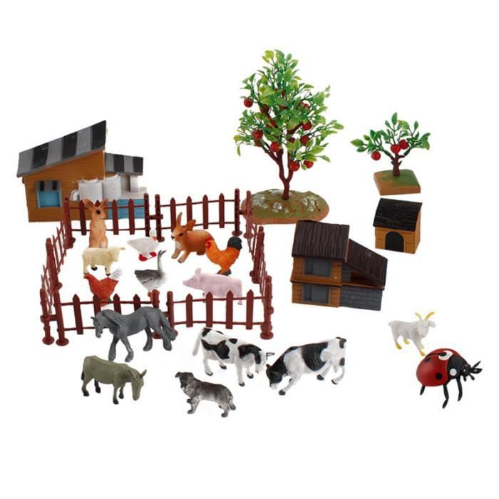 1 Ensemble / 28pcs Creative Realistic Mini Figurines Animal Fancurines figurine miniature - personnage miniature monde miniature